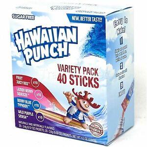 Hawaiian Punch Singles Variety Pack Powder Sticks (40 Packets/Box)