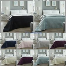 Luxury Quilted Bedspread Velvet Throws Comforter Bedding Large Sofa Cover Double