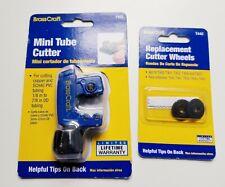 """New BrassCraft 1/8"""" to 7/8"""" Copper/PVC Tubing Mini Cutter T405 & Cutter Wheels"""