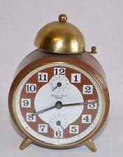 Vintage Wehrle Lutine Bell Duplex Alarm Clock Wecker