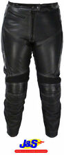 Frank Thomas Knee Leather Motorcycle Trousers