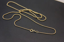Goldkette Kugelkette Kette 585 14k ECHT GOLD 1,5mm 55cm König NEUWERTIG