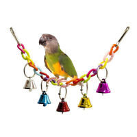 Parrot Pet Bird Hanging Swing Bed Cage Rope Chew Bite Bell Parakeet Budgie G9C