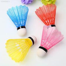 6X Train Yellow And White Nylon Shuttlecocks Badminton Ball Sport Useful DSUK