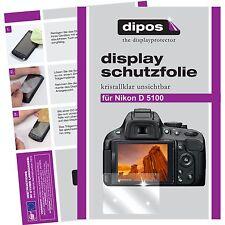 6x dipos Nikon D5100 Protector de Pantalla protectores transparente