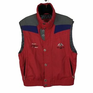 MARKER 2002 Salt Lake City Olympic Chevy Truck Red Nylon Ski Vest Sz Small