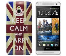 Schutzhülle f HTC One mini M4 Case Cover Tasche Etui England keep calm GB UK