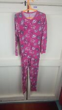 Ladies Size 8-10 All In One Pyjamas