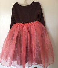 Holiday Girl Dress Size 4 Organza Ballerina Style Princess Party Stars Glitter