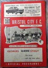 1960 Bristol City v Kings Lynn - Fa Cup 2nd Round Replay