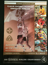 2004 GAA ANTRIM v CORK & CLARE v KILKENNY All-Ireland Hurling Q-Final Programme