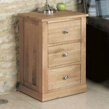 Mobel Oak Side Table 3 Drawer