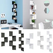 Floating Wall Shelves Corner Shelf Storage Display Bookcase Wall Organiser Rack