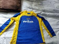 Reusch Vintage Goalie Goalkeeper Blue-yellow Jersey Padded Elbow Soccer