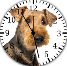 Airedale Terrier Frameless Borderless Wall Clock Nice For Gifts or Decor E289