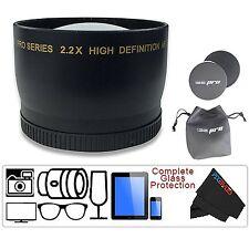 I3ePro 52mm 2.2X Telephoto Lens For Nikon 18-55mm, 55-200mm, 50mm f/1.8D Lenses