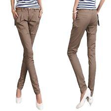 Vintage Womens Office Cargo Casual Work Narrow Ladies Pants Sz 12 Brown 14