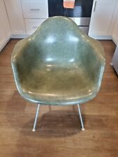 Vintage Herman Miller Eames Mid Century Modern Shell Arm Chair DAX *olive green