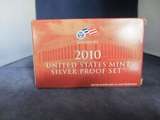 2010-S SILVER Proof Set  EMPTY BOX & COA ONLY - 1 ONE BOX