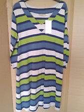 Jersey Striped Hips Shirts for Women