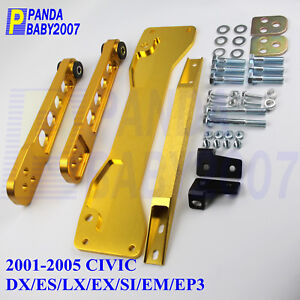 CONTROL ARM SUBFRAME BRACE TIE BAR FOR HONDA CIVIC 01-05 DX ES LX EX SI EM EP3 G