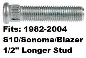 """1/2"""" Longer Than Stock WHEEL STUD BOLT for 1982-2004 Chevrolet S10 S-10 Sonoma @"""