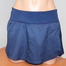 New Nike Swimsuit Bikini Skirted Bottom Skirt Midnight Navy Size L