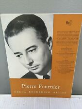 Pierre Fournier cello - Decca Records Advertisement 1955 - Krips, Boult