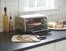 4-Slice Countertop Toaster Oven with Bake Pan, Stainless Steel