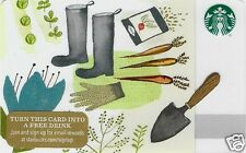 "Starbucks Limited Edition Holiday Gift Card ""Gardening Tools"" 2015 Mint"