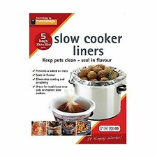 Slow Cooker Liners - 5 Pack Transparent Pack of 5 Single