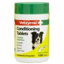 Vetzyme Conditioning Tablets For Dogs Healthy Vitamin Treat 100 Tablets Health