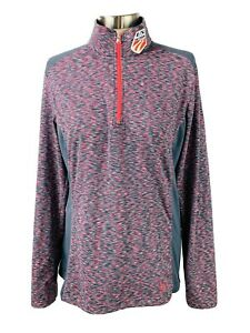 SPYDER US Ski Team Pullover Base Layer Top Womens Size 12 Multicolor 1/2 Zip