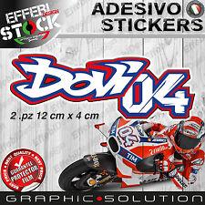 Adesivi Sticker 2.PZ 04 DOVIZIOSO ANDREA AD MOTO GP DUCATI DESMODOVI TOP QUALITY