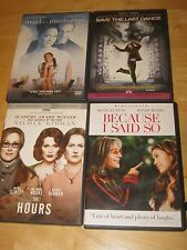 Lot of 4 DVDs-The Hours, Because I Said So, Maid In Manhattan, Save the Last Dan