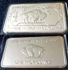 1 Unze Barren - German Silber - American Buffalo - Silberauflage -  Neu