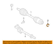FORD OEM Drive-Front Suspension-Axle Assembly Retainer Left 6E5Z4B422A