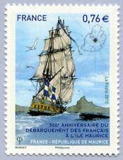 Timbre 2015 - 300e Anniversaire débarquement des français à l'Île Maurice  4979