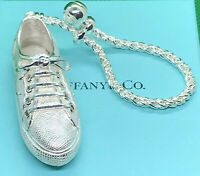 Tiffany & Co. Large Sterling Silver .925 Tennis Shoe KeyChain KeyRing Rare Find