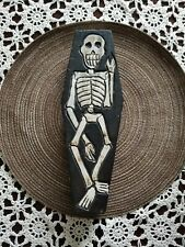 Skeleton Coffin Trinket Box or Celebrate Day of the Dead! Wood hand crafted.