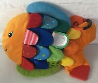 Melissa & Doug 9195 K's Kids Flip Fish Soft Teether Multi-Color Scales Baby Toy