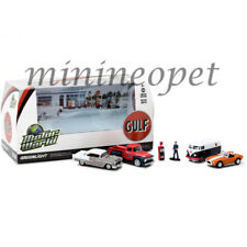 GREENLIGHT 58035 MOTOR WORLD DIORAMA GULF OIL VINTAGE GAS STATION 1/64 6PC SET