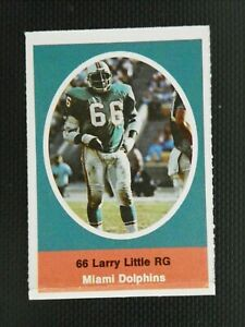 1972 SUNOCO FOOTBALL STAMP LARRY LITTLE MIAMI DOLPHINS