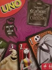 New THE NIGHTMARE BEFORE CHRISTMAS Rare UNO PLAYING CARDS Game JACK SALLY OOGIE