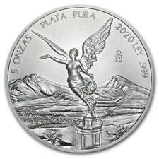 2020 5 oz Mexican Libertad Silver Coin .999 Silver BU Limited Mintage #A300