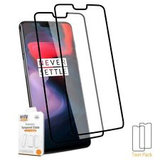 OnePlus 6 Premium Pro-Fit Tempered Glass Screen Protector TWIN PACK By Orzly