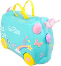 Trunki Una the Unicorn Ride-On Suitcase With Silky Rainbow Tail Travel Case
