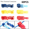 60 Quick Splice Scotch Lock Wire Tap Terminals Connectors Electrical Crimp Cable