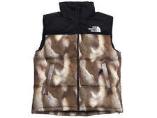 Supreme North Face Fur Print Nuptse Vest size L FW2013