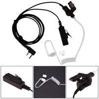 2 Pin Covert Acoustic Tube Earpiece Headset Mic for Baofeng Kenwood TH/TK HYT